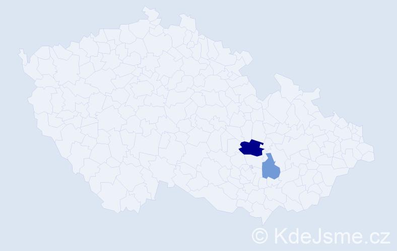 Příjmení: 'Umshausová', počet výskytů 4 v celé ČR