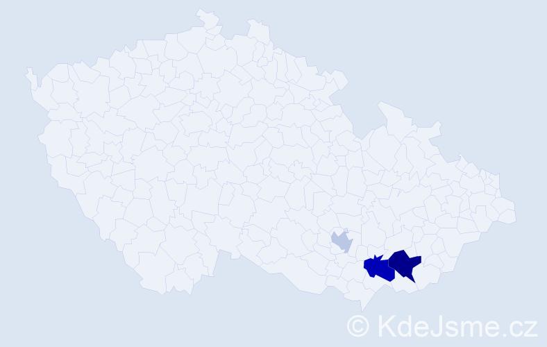 Příjmení: 'Krojzl', počet výskytů 12 v celé ČR