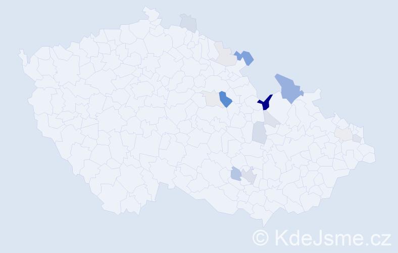Příjmení: 'Habas', počet výskytů 37 v celé ČR