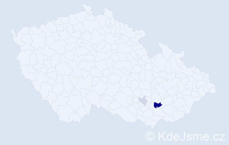 Příjmení: 'Kainka', počet výskytů 2 v celé ČR