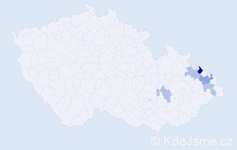 Příjmení: 'Franěcová', počet výskytů 10 v celé ČR
