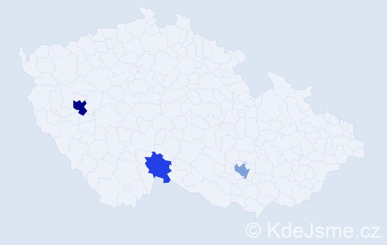 Příjmení: 'Deglová', počet výskytů 7 v celé ČR