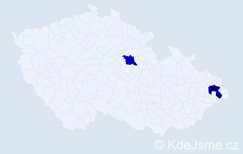 Příjmení: 'Judičák', počet výskytů 2 v celé ČR