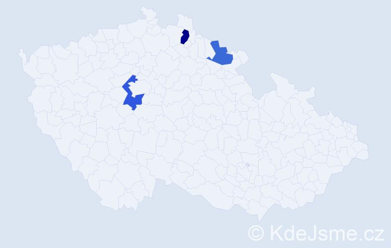 Příjmení: 'Gaisl', počet výskytů 8 v celé ČR