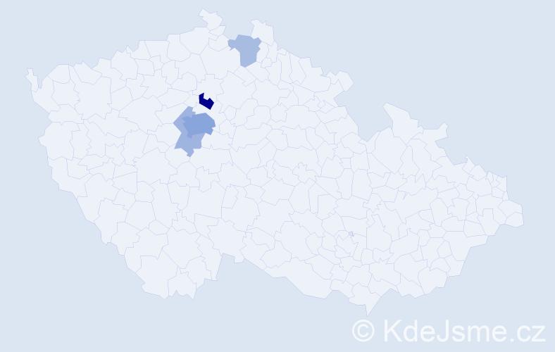 Příjmení: 'Astl', počet výskytů 14 v celé ČR