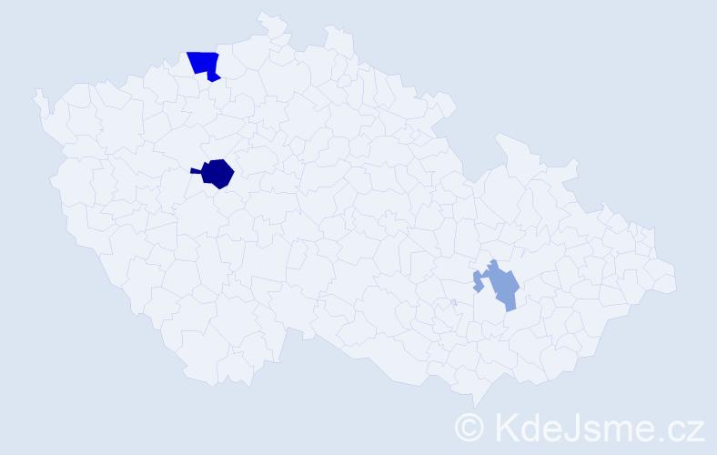 Příjmení: 'Grundzi', počet výskytů 8 v celé ČR