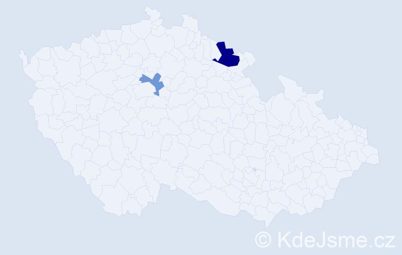Příjmení: 'Argiropulos', počet výskytů 7 v celé ČR