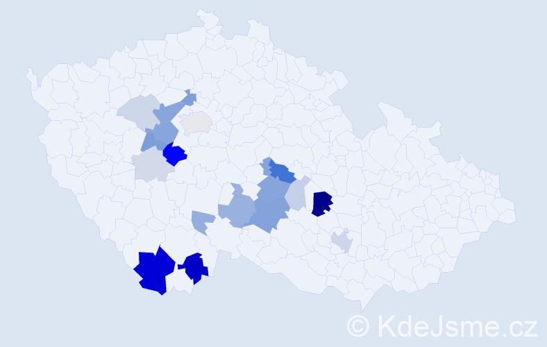 Příjmení: 'Kodras', počet výskytů 59 v celé ČR