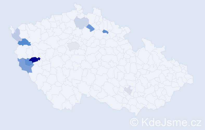 Příjmení: 'Cenefels', počet výskytů 18 v celé ČR