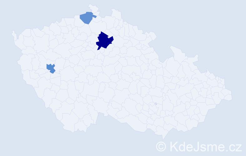 Příjmení: 'Englmanová', počet výskytů 6 v celé ČR