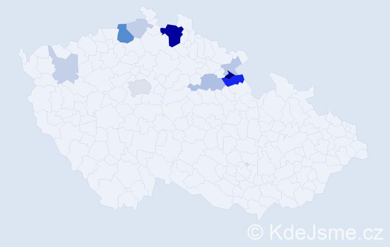 Příjmení: 'Hastrdlo', počet výskytů 33 v celé ČR