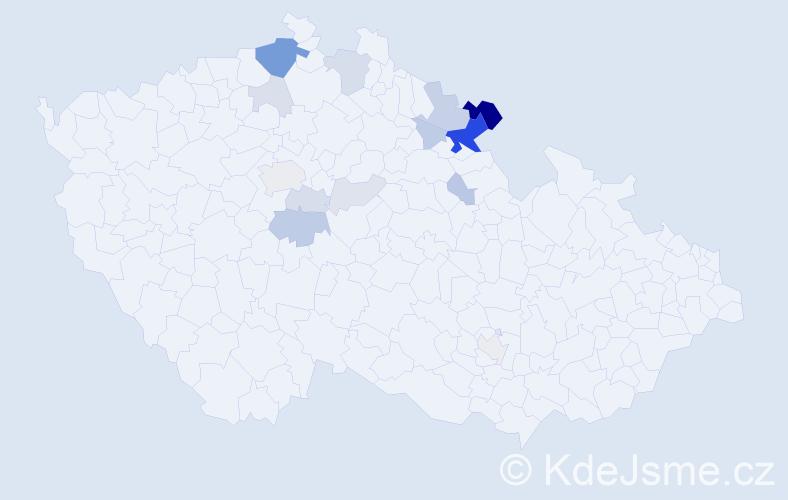 Příjmení: 'Heinzel', počet výskytů 43 v celé ČR