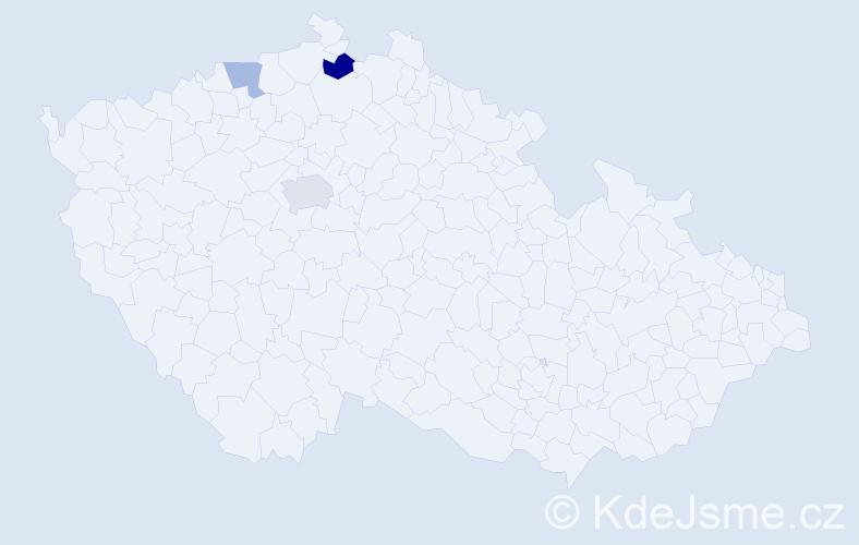 Příjmení: 'Ilčenko', počet výskytů 5 v celé ČR