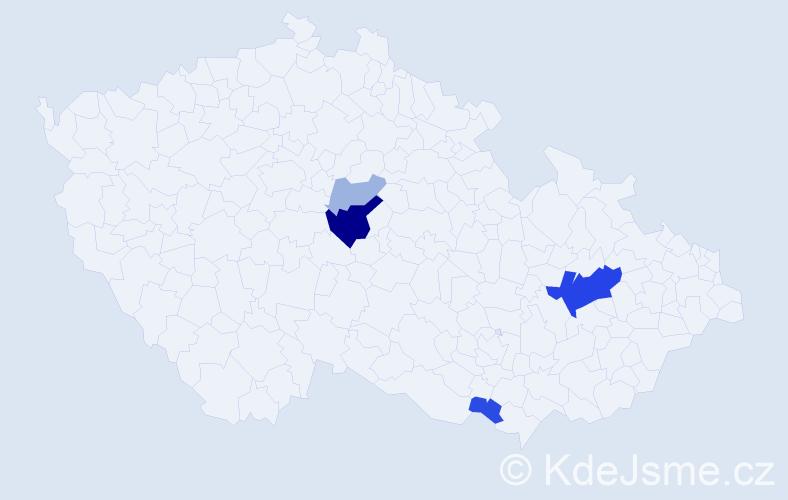Příjmení: 'Krososková', počet výskytů 12 v celé ČR
