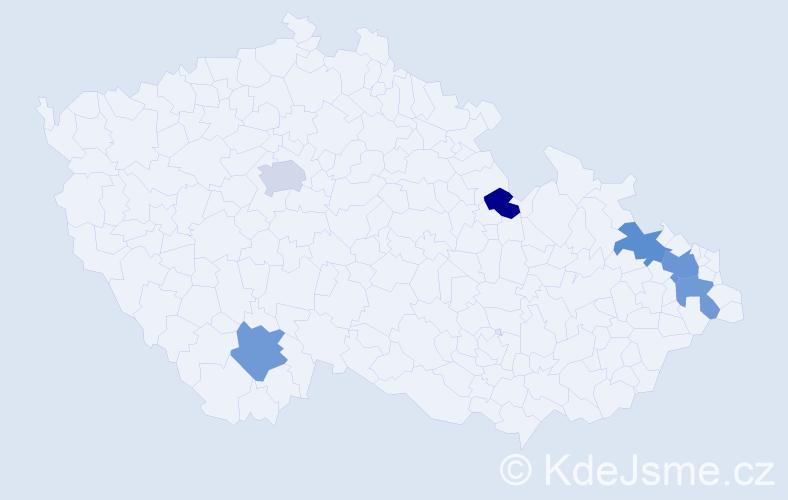 Příjmení: 'Larisch', počet výskytů 34 v celé ČR