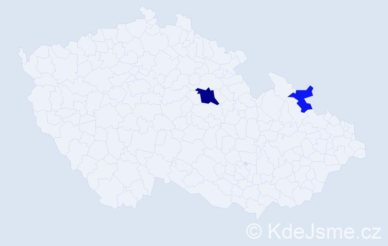 Příjmení: 'Dojczar', počet výskytů 4 v celé ČR