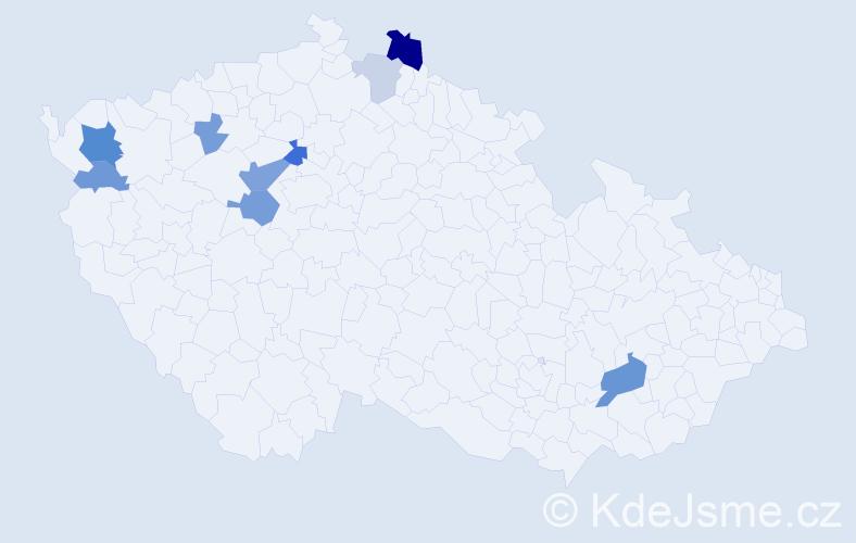 Příjmení: 'Babuková', počet výskytů 20 v celé ČR