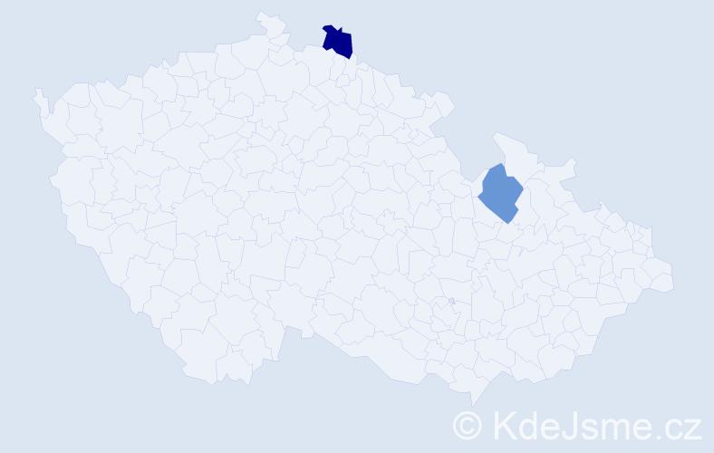 Příjmení: 'Garbuz', počet výskytů 2 v celé ČR