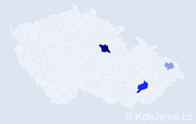 Příjmení: 'Binas', počet výskytů 4 v celé ČR