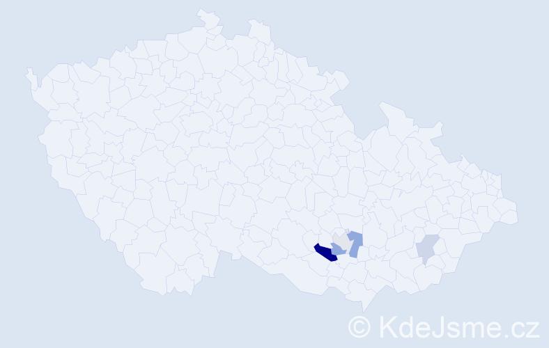 Příjmení: 'Leichmanová', počet výskytů 8 v celé ČR