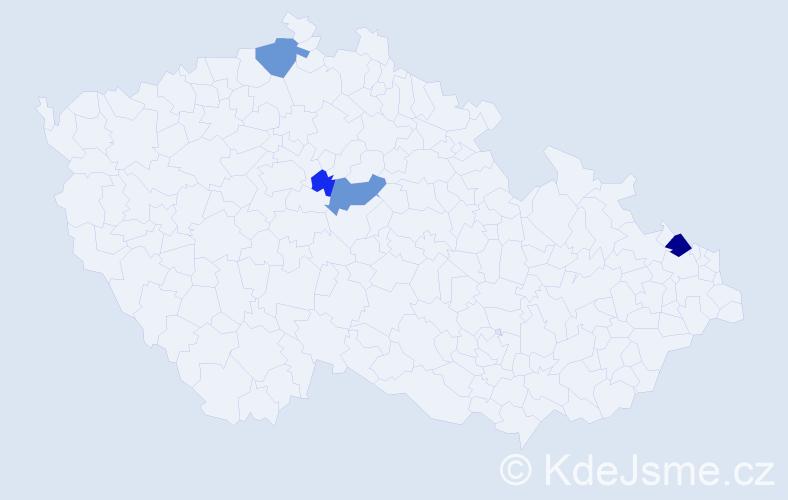 Příjmení: 'Kostřánková', počet výskytů 8 v celé ČR