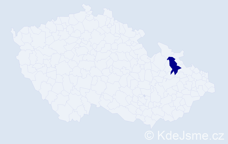 Příjmení: 'Kekeňáková', počet výskytů 1 v celé ČR