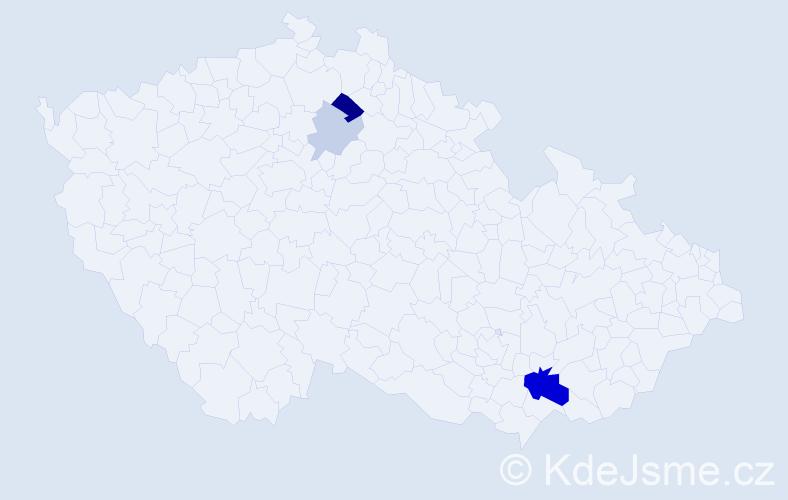 Příjmení: 'Macuchová', počet výskytů 9 v celé ČR