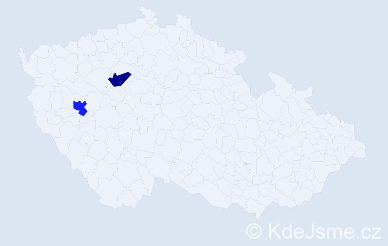Příjmení: 'Kleinmondová', počet výskytů 2 v celé ČR