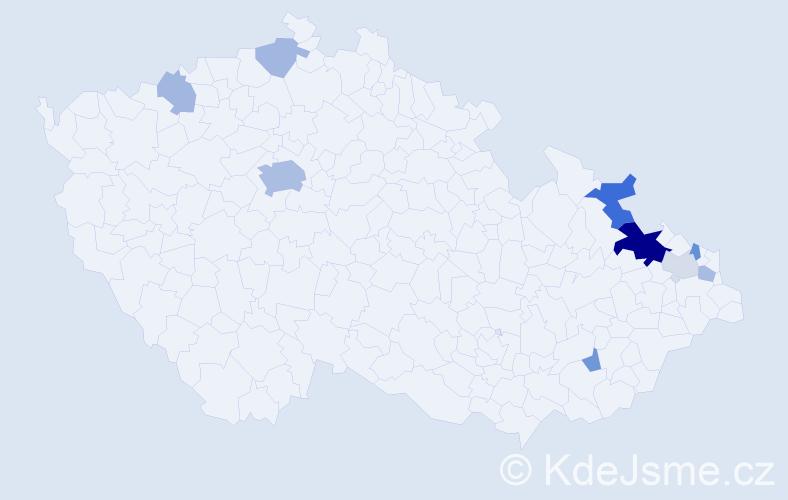 Příjmení: 'Citron', počet výskytů 23 v celé ČR