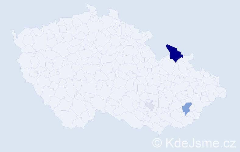 Příjmení: 'Bašo', počet výskytů 7 v celé ČR