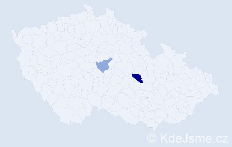 Příjmení: 'Kopčik', počet výskytů 3 v celé ČR