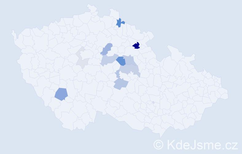 Příjmení: 'Čenovský', počet výskytů 27 v celé ČR