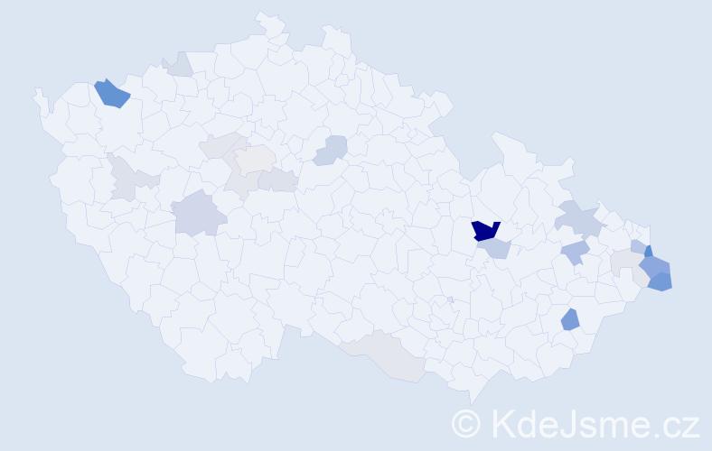 Příjmení: 'Czechová', počet výskytů 51 v celé ČR