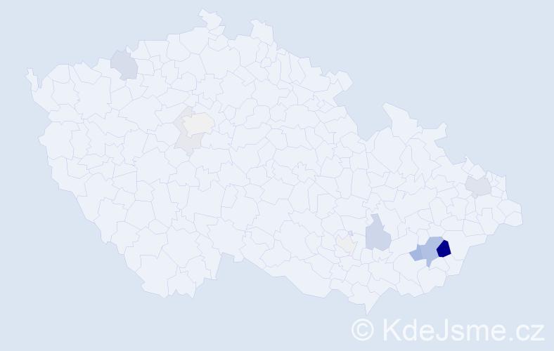 Příjmení: 'Jünger', počet výskytů 29 v celé ČR
