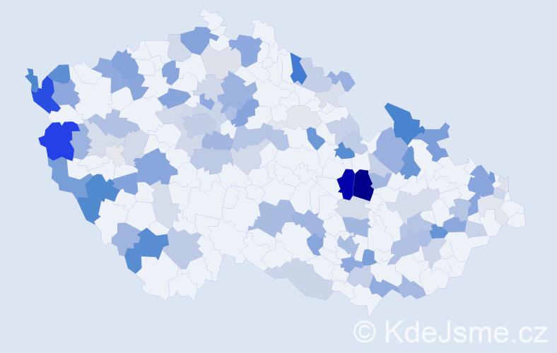 Příjmení: 'Blašková', počet výskytů 283 v celé ČR