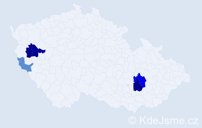 Příjmení: 'Emperger', počet výskytů 12 v celé ČR
