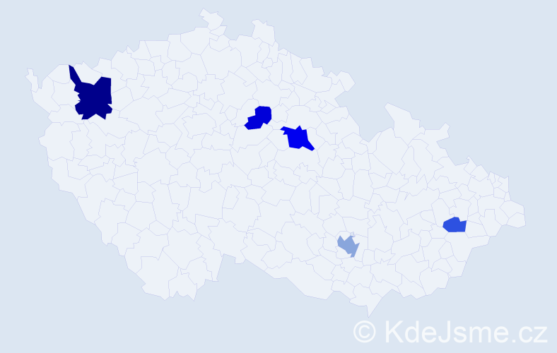 Příjmení: 'Herbert', počet výskytů 10 v celé ČR