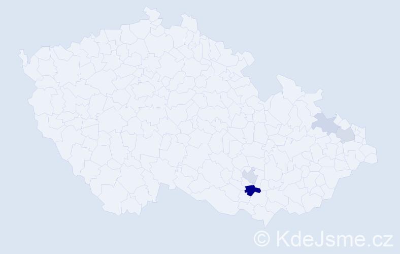 Příjmení: 'Landkaš', počet výskytů 10 v celé ČR