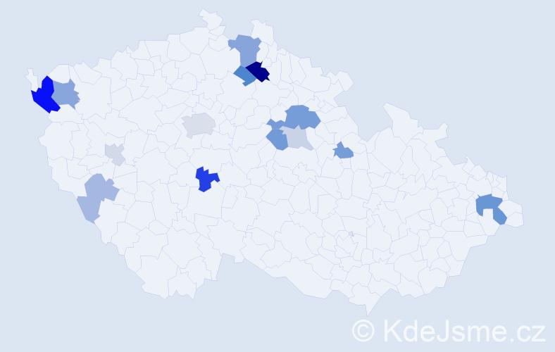 Příjmení: 'Finke', počet výskytů 33 v celé ČR