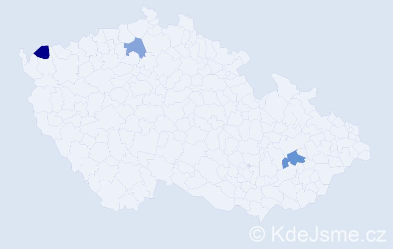 Příjmení: 'Egrešiová', počet výskytů 4 v celé ČR