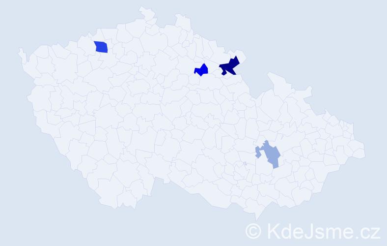 Příjmení: 'Kampo', počet výskytů 9 v celé ČR