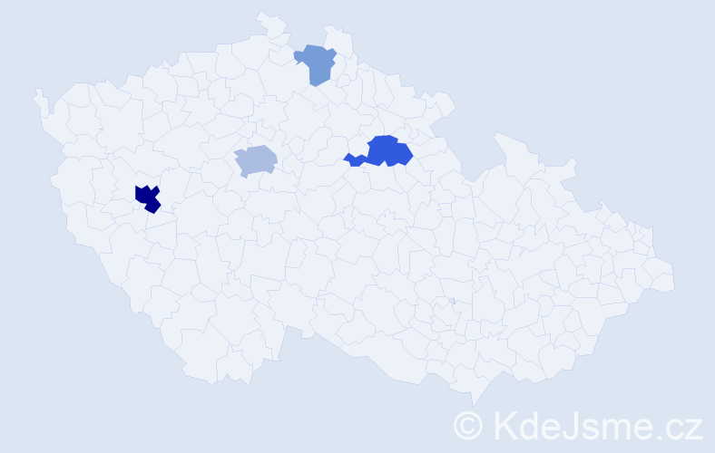 Příjmení: 'Jurčenková', počet výskytů 10 v celé ČR