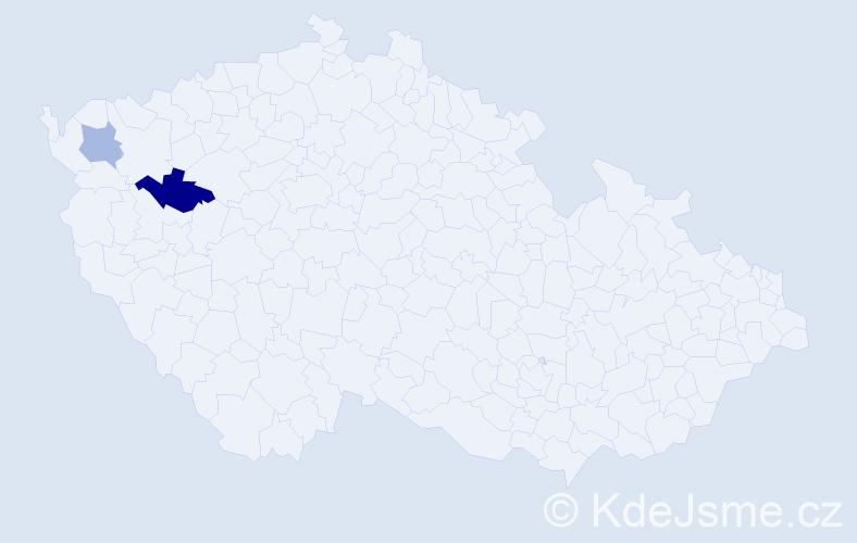 Příjmení: 'Gabonayová', počet výskytů 3 v celé ČR