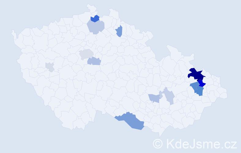 Příjmení: 'Denerová', počet výskytů 33 v celé ČR