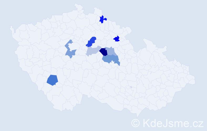 Příjmení: 'Čenovská', počet výskytů 22 v celé ČR