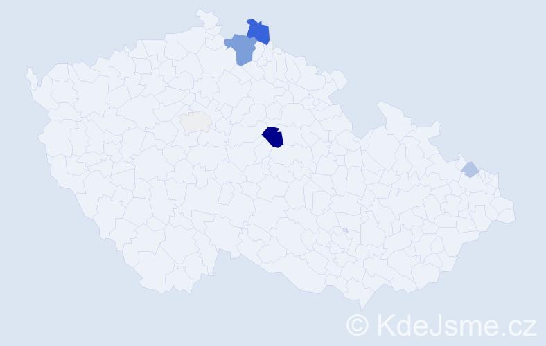 Příjmení: 'Gamper', počet výskytů 16 v celé ČR