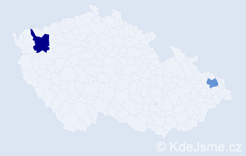 Příjmení: 'Barkov', počet výskytů 2 v celé ČR