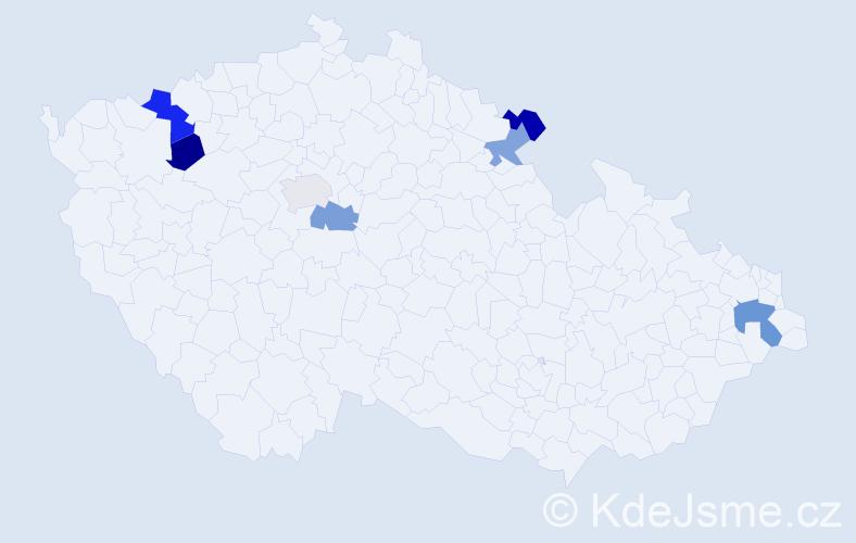 Příjmení: 'Göhlerová', počet výskytů 9 v celé ČR