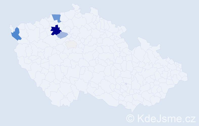 Příjmení: 'Holbička', počet výskytů 18 v celé ČR