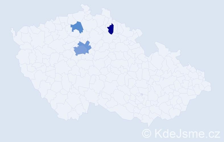 Příjmení: 'Jettmarová', počet výskytů 10 v celé ČR